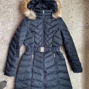 Laundry by Shelli Segal Faux-Fur-Trim Hooded Coat!